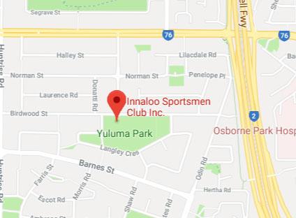 The Innaloo Sportsmen's Club Map